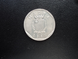 MALTE : 5 CENTS   1991   KM 95     SUP - Malta