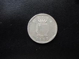 MALTE : 5 CENTS   1995    KM 95     SUP - Malta