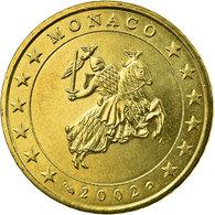 Monaco, 50 Euro Cent, Sceau Des Grimaldi, 2002, SUP, Laiton, Gadoury:MC177 - Monaco