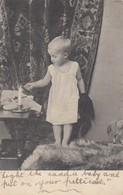 Postcard Small Child Lighting A Candle PU At Chard 1905 To Miss Wallbridge The Villas Tatworth My Ref  B13190 - Portraits