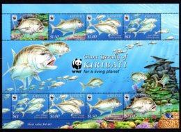 Kiribati 2012 Marine Life Fish MNH Mi.1116-19 --(M-21) - Meereswelt