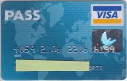 TARJETA DE BANCO DE CARREFOUR PASS (CREDITCARD-BANK-VISA) - Tarjetas Telefónicas