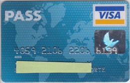 TARJETA DE BANCO DE CARREFOUR PASS (CREDITCARD-BANK-VISA) - Unclassified