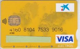 TARJETA DE BANCO DE LA CAIXA  (CREDITCARD-BANK-VISA)  (CHIP-PUCE) - Tarjetas Telefónicas