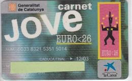 TARJETA DE BANCO DE LA CAIXA CARNET JOVE EURO 26 (CREDITCARD-BANK-VISA) - Unclassified