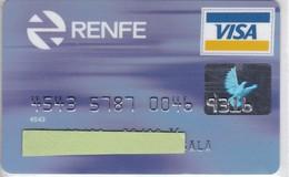 TARJETA DE BANCO DE SANTANDER DE RENFE (CREDITCARD-BANK-VISA) TREN-TRAIN-ZUG - Tarjetas Telefónicas