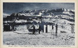 Cpa L'alpe D'huez, Téléski Du Signal, Les Rousses - Francia