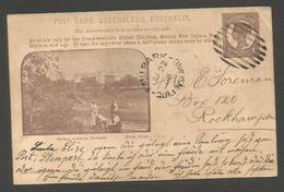 AUSTRALIA. 1906 (22 June). Queensland. Emupark - Rockhampton 1d Brown Photo Ilustrated Botanic Gardens, Brisbane. Stat C - Australia