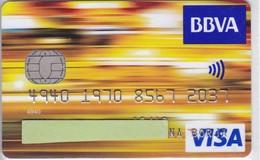 TARJETA DEL BANCO BBVA  (CREDITCARD-BANK-VISA)  (CHIP-PUCE) - Unclassified