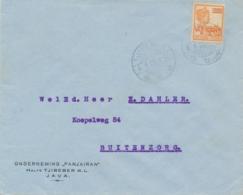 Nederlands Indië - 1925 - 12,5 Op 22,5 Cent Wilhelmina Op Zakenbrief Van LB TJIBEBER Naar Propaganda - Buitenzorg - Nederlands-Indië