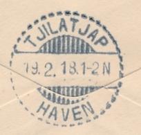 USA / Nederlands Indië - 1918 - LB TJILATJAP HAVEN Als Aankomststempel Op Businesscover Uit San Francisco / USA - Nederlands-Indië