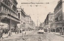 Bouches-du-rhone : MARSEILLE : Rue Cannebière ( Animation ) - Canebière, Centre Ville