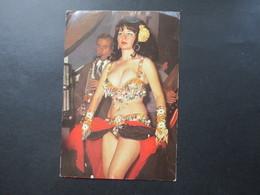 Echtfoto AK Türkei 1972 Bautänzerin / Leicht Bekleidete Frau Fatma Girik - Orientalisches Dekor