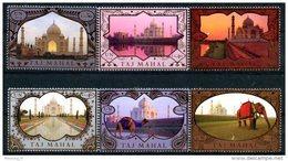 ONU Vienne 2014 - UInesco Patrimoine Mondial Inde Taj Mahal - 6 Timbres Détachés De Carnet De Prestige ** - Centre International De Vienne