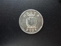 MALTE : 5 CENTS   2001    KM 95     SPL (non Circulé) - Malta
