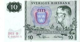 Sweden P.52 10 Kroner  1972 Unc - Svezia