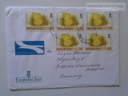 E0106  SWAZILAND   Cover - 1991 Butterfly  Schmetterling Papillon - Swaziland (1968-...)