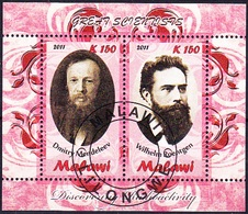 Chemists DMITRY MENDELEEV / WILHELM ROENTGEN - Great Scientists, Malawi 2011 / Private Issue - Mini Sheet - Physics