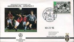44741  England, Special Cover And Postmark Manchester, UEFA Cup Manchester Vs Juventus  20.11.1996 - Europei Di Calcio (UEFA)