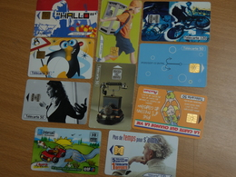 LOT 10 TELECARTES DIFFERENTES. - Lots - Collections