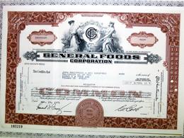 General Foods Corporation 1971 - Certificato N°165219 - Azioni & Titoli