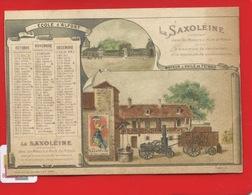 SAXOLEINE PETROLE Chromo Calendrier 4 Trimestre 1896  ECOLE ALFORT Moteur  Affiche Agriculture  Boussod Valadon - Altri