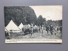 Belgium Boy Scouts: Inspection Du Piquet De Garde Au Camp Par Le Lieutenant-général Baron Donny - Scoutisme - 1914 - Scoutisme