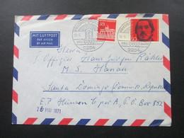 BRD 1971 Schiffspost Beleg An Den I. Offizier Der MS Hanau In Santa Domingo Dominikanische Republik - [7] República Federal