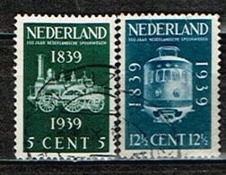 PAYS-BAS - Oblitérés/Used/1939 - Centenaire Des Chemins De Fer Neerlandais - Period 1891-1948 (Wilhelmina)