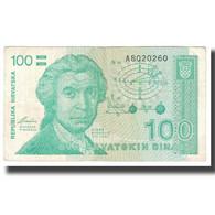 Billet, Croatie, 100 Dinara, 1991, 1991-10-08, KM:20a, TTB - Croatie