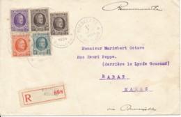 Aangetekende Brief Roeselaere 31 1 1924 Naar Rabat Marokko 11 2  24 - 1922-1927 Houyoux