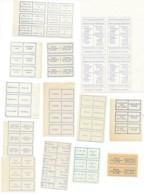 Post Vignetten Met Bewerking Aanduidingen - Vignettes Postale Avec Indications De Service - Documents Of Postal Services