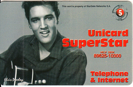 GREECE - Elvis Presley, Stargate Prepaid Card 5 Euro, Tirage 6000, Used - Characters