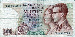 Billet De 50 Francs Du Royaume De Belgique - 16-05-66 - En T B - - 50 Francs