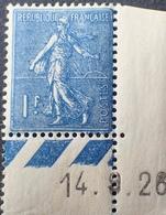 R1934/58 - 1926 - TYPE SEMEUSE LIGNEE - N°205 NEUF** CdF Daté - France