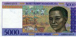 Madagascar, 5000 Francs = 1000 Ariary Type 1994-95, Non Daté (1995), - Madagascar