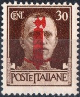 ITALIA, ITALY, REPUBBLICA SOCIALE ITALIANA, SERIE IMPERIALE 1944, 30 C., NUOVI (MNH**)  Mi 643, Scott 2, YT 22 - 4. 1944-45 Repubblica Sociale