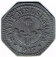 Allemagne - Nécessité - MELSUNGEN 10 Pfennig 1917 Zinc - Monétaires/De Nécessité