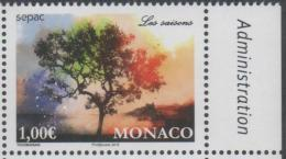 MONACO, 2016, MNH, SEPAC, JOINT ISSUE, TREES,  THE SEASONS, 1v - Emissions Communes