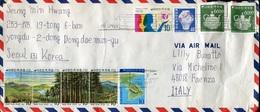 44759 South Korea, Cover  Circuled 1975 To Italy As Scan - Corea Del Sud
