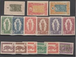 Congo Français - 1900 Série Non Denteléen°27/41 Sur Carton - French Congo (1891-1960)