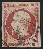 Napoléon   N° 17 - Cote : 70 € - 1853-1860 Napoléon III