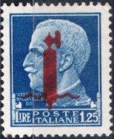 ITALIA, ITALY, REPUBBLICA SOCIALE ITALIANA, SERIE IMPERIALE 1944, 1,25 L., NUOVI (MNH**)  Mi 646, Scott 5, YT 25 - 4. 1944-45 Repubblica Sociale