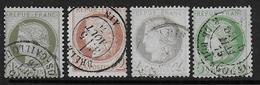 Cérès  N° 50 à 53 - Cote : 105 € - 1871-1875 Cérès