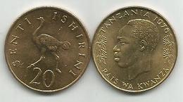 Tanzania 20 Senti 1976. High Grade KM#2 - Tansania