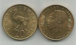 Tanzania 20 Senti 1982. High Grade KM#2 - Tanzanía