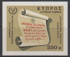 Cyprus 1968 Human Rights M/s ** Mnh (42606) - Ongebruikt