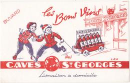 Buvard Les Bons Vins - CAVES ST-GEORGES - Buvards, Protège-cahiers Illustrés