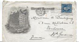 ENVELOPPE  + COURRIER PUBLICITE HOTEL ALBERT A NEW-YORK ETATS-UNIS USA 1919 CACHET TIMBRE - Sonstige