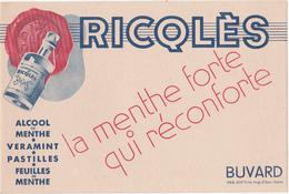 Buvard RICQLES - ALCOOL De MENTHE - Liquor & Beer